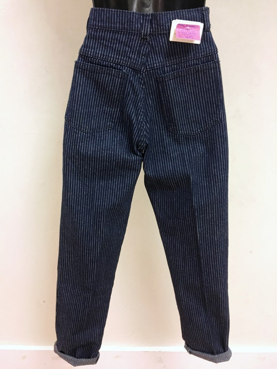 Pinstripe High-waisted Jeans - image 3