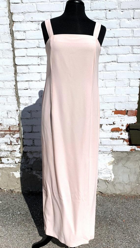 Pastel Pink Crepe Formal Dress