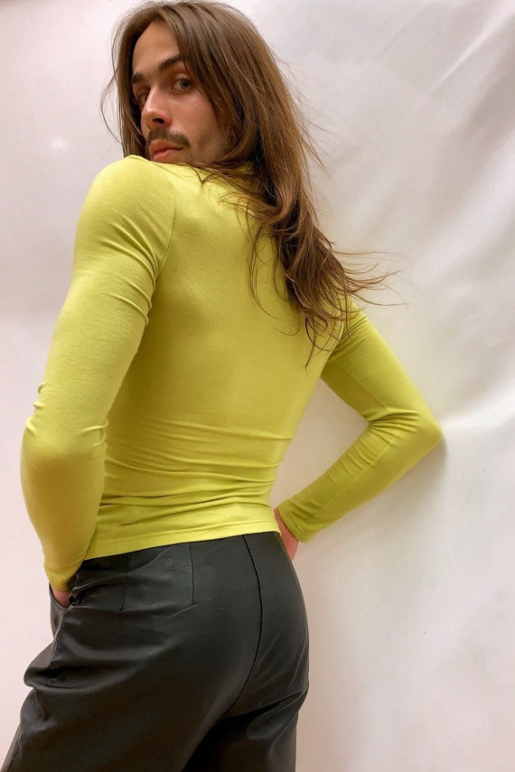 Chartreuse 90s Blouse - image 6