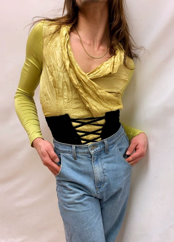 Chartreuse 90s Blouse - image 1