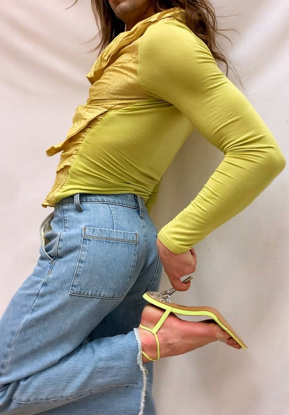 Chartreuse 90s Blouse - image 3