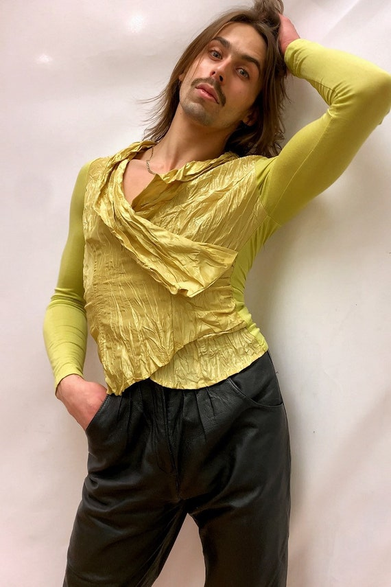 Chartreuse 90s Blouse - image 4