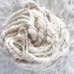 Handspun Art Yarn for weaving yarn | Scrap Yarn | Wool Yarn Scraps - NEUTRAL - Made to Order