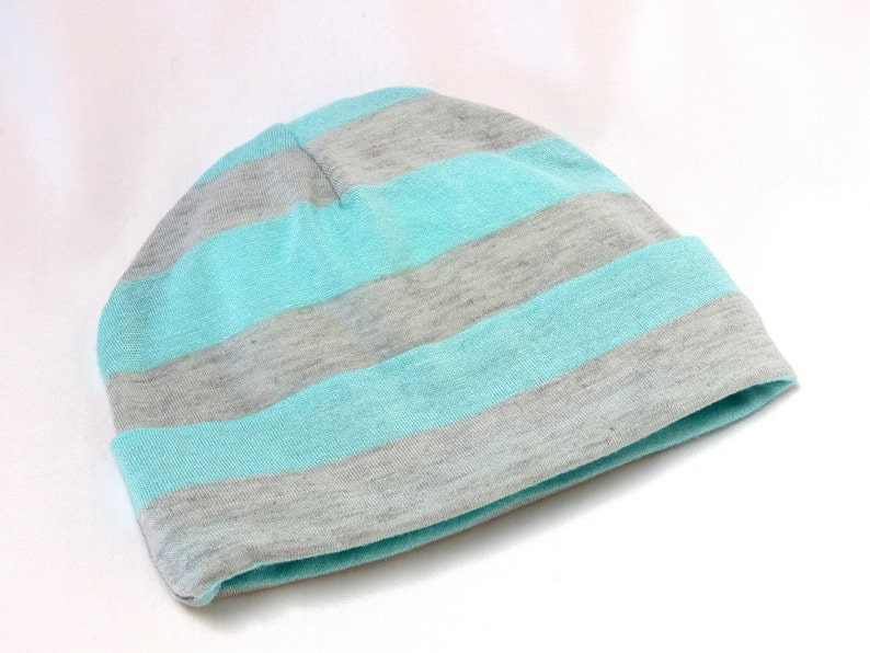 77cacc348db Cotton Jersey Knit Baby Beanie Hat Girl or Boy