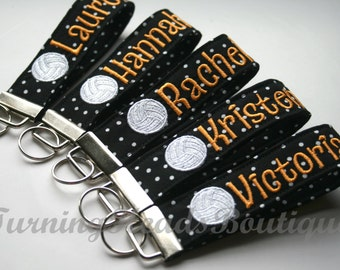 Volleyball Keychain / Sports key fob /  Bag tag / Coach Gift /Sports Bag Tag / Team Gift/ Gifts under 20/ Party favor/ ID bag tag
