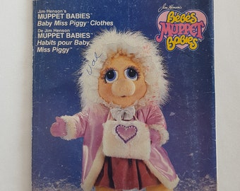 Sewing Pattern for Baby Miss Piggy Doll Clothes Vintage Jim Henson's Muppets Vogue 9398 G
