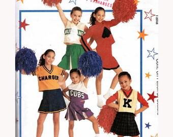 Girls Cute Cheerleader Pep Squad Uniform Costumes Sewing Pattern Vintage Tween Size 8-10 Bust 27-28.5 (69-73 cm) McCalls 2849 G