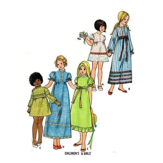 Des Mädchens Empire Taille Kleid nähen Muster Blätterteig | Etsy