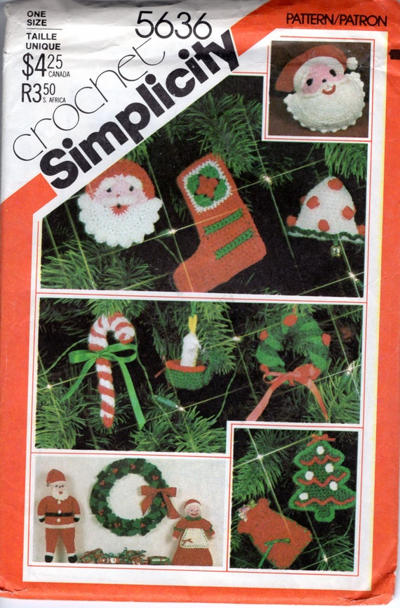 Sewing Pattern For Crochet Santa Mrs Claus Dolls Ornaments Etsy