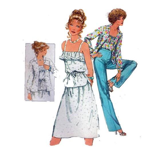 Schnittmuster für romantische Rüschen Hemd Bluse | Etsy
