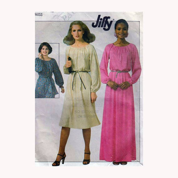 Sewing Pattern For Womens Maxi Dress Or Midi Dress Jiffy Etsy
