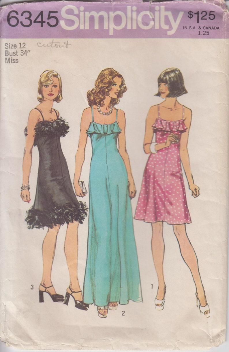 Discoteca anni   70 vestito cucito Pattern Spaghetti  efd6bdb17ea