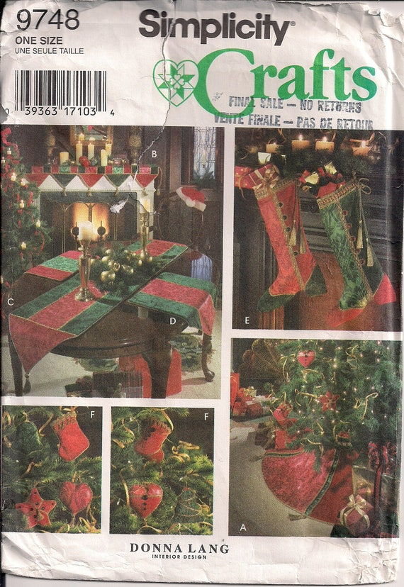 Christmas Ornaments Sewing Pattern Noel Decorations Stockings Etsy