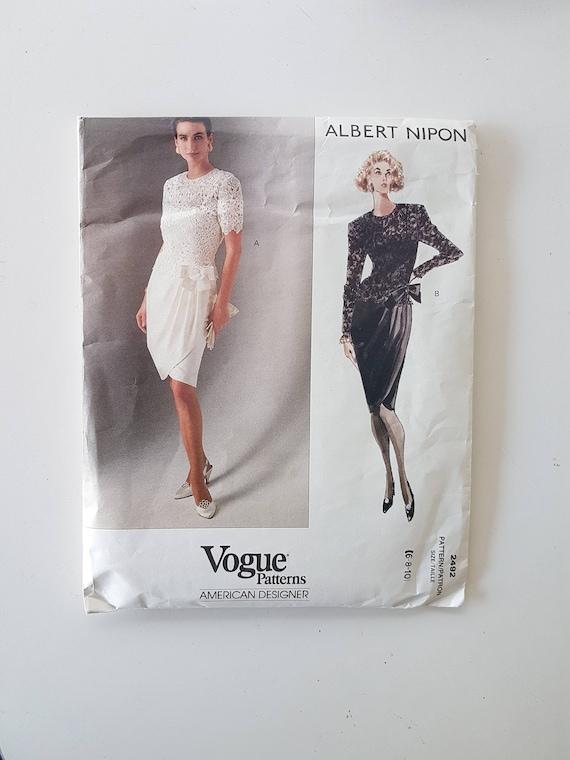 Vogue American Designer Sewing Pattern Dress W Tulip Skirt Etsy