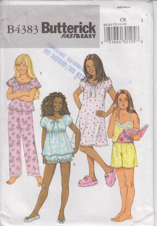 e0df646e3085c6 UNBESCHNITTENEN Schnittmuster für Baby Doll Pyjamas | Etsy