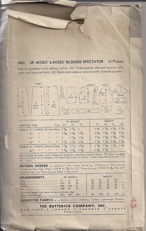 50er Jahre Shirtwaist Kleid Nähen Muster Zuschauer | Etsy