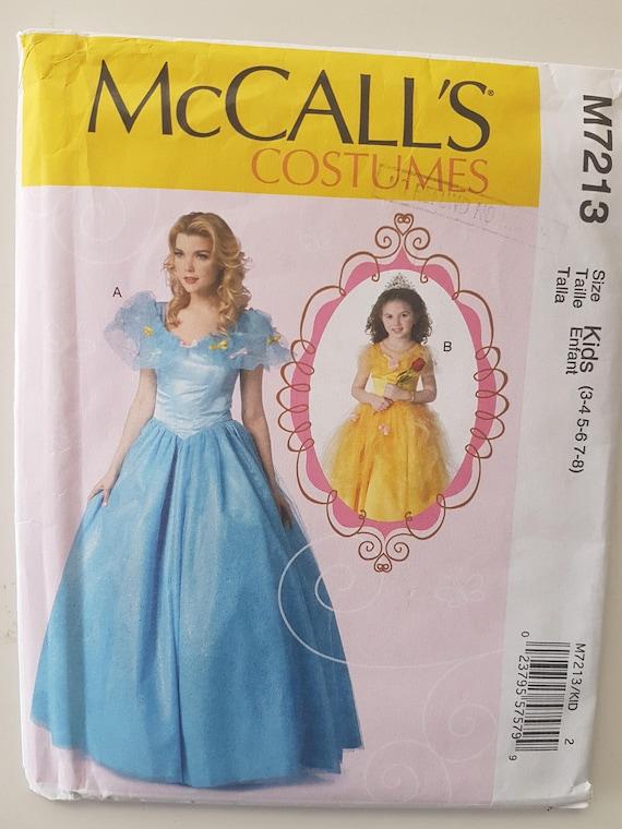 Schnittmuster für Belle Kostüm Kleinkind & Kinder Prinzessin | Etsy