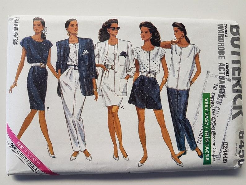 save off 1d04d faf7e UNCUT cartamodello per donne camicetta, gonna, giacca, Shorts e pantaloni  Vintage anni 80 vestito taglia 12 14 16 Busto 36-38