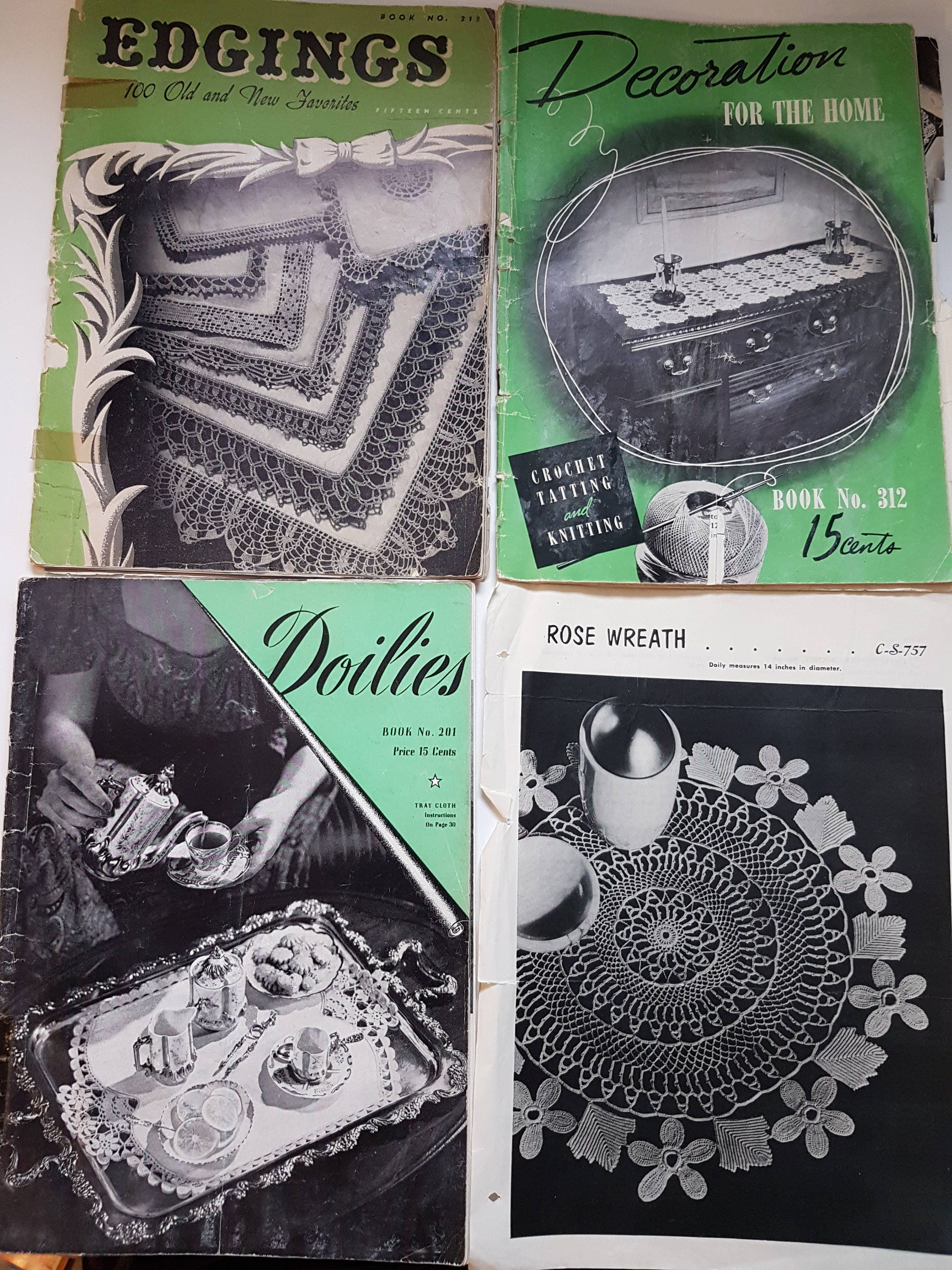 Lot Of 5 Vintage Crochet Pattern Booklets 40s To 60s Doilies Etsy