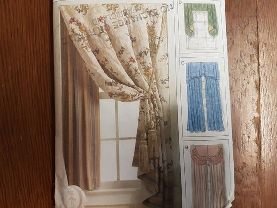 Sewing Pattern For Window Dressings Curtains And Drapes Side Etsy