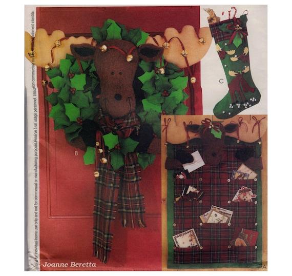 Christmas Ornaments Nähen Muster Elch Kranz Strumpf und | Etsy