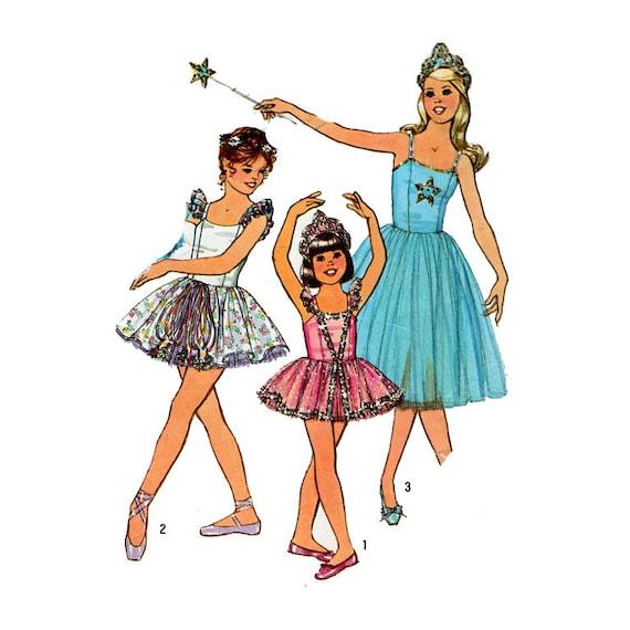 Tutu Nähen Muster Mädchen Ballerina Kostüm drei geschichteten