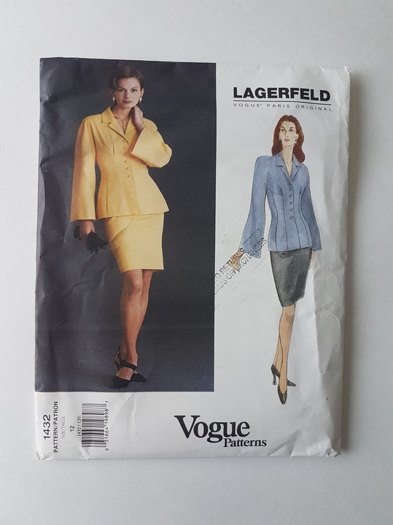 UNBESCHNITTENEN Vogue Paris Original Nähen Muster Damen Anzug | Etsy