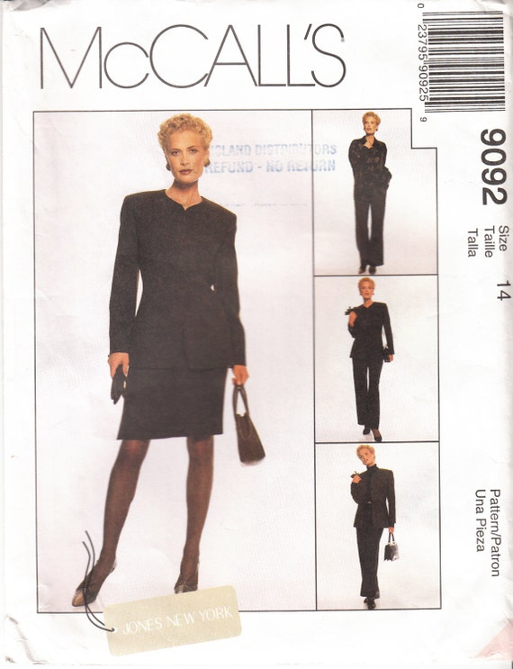 Women\'s Suit Sewing Pattern Dress Jacket Pants Skirt | Etsy