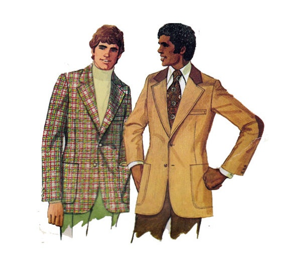 Men\'s Blazer Sewing Pattern Regular or Tall Sleeve Patches | Etsy