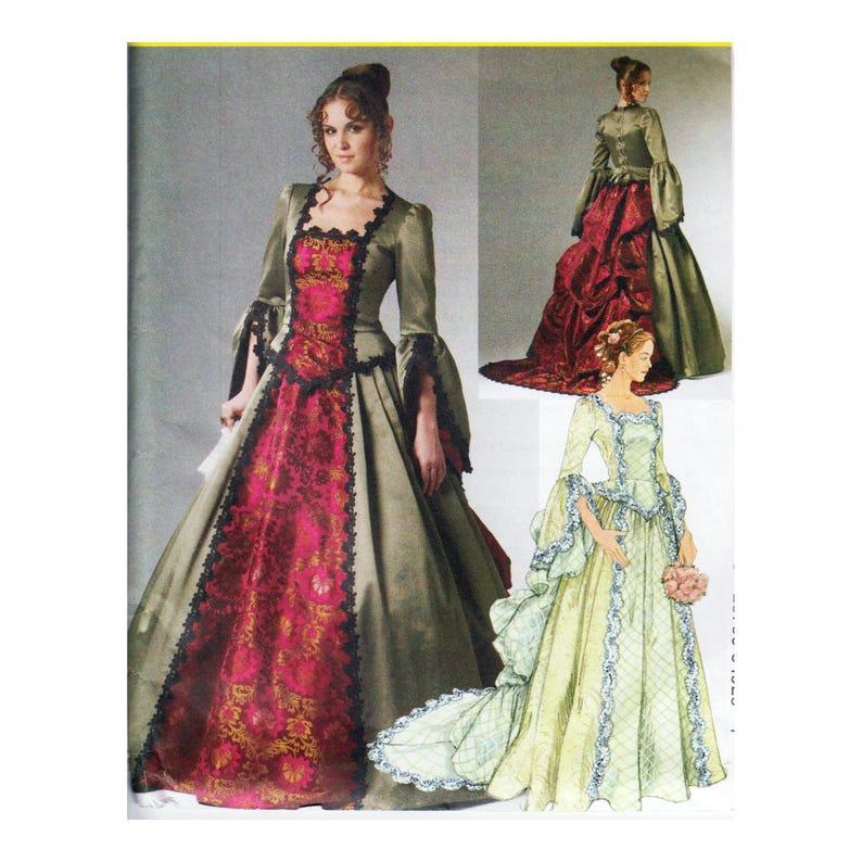 Détachable Buste » Mccall Taille 18 Train Femmes Patron Historique 20 36 W Costume Couture Peplumamp; 16 Victorienne 14 M6097 42 Robe SzpUVM