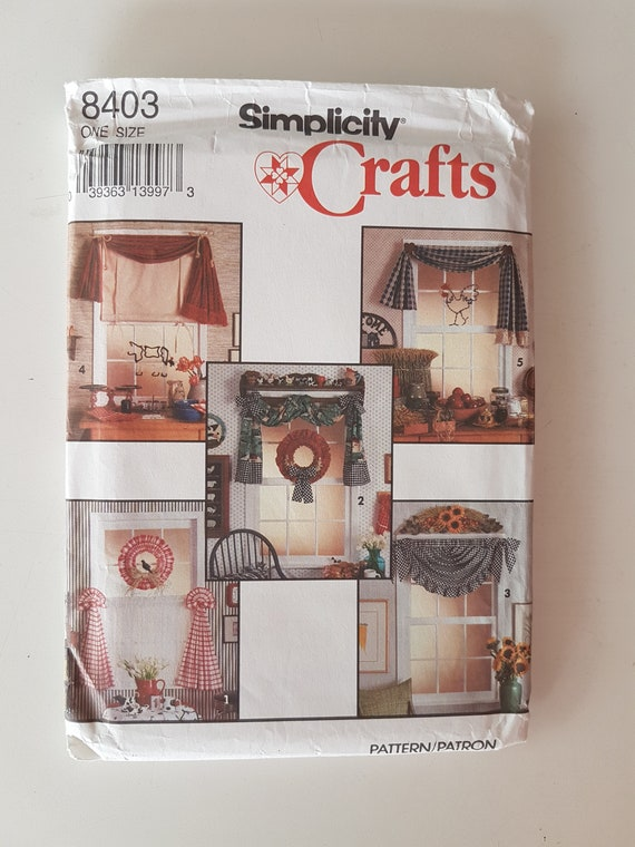 Sewing Pattern For Cafe Curtains Wreath Swag Festoon And Etsy