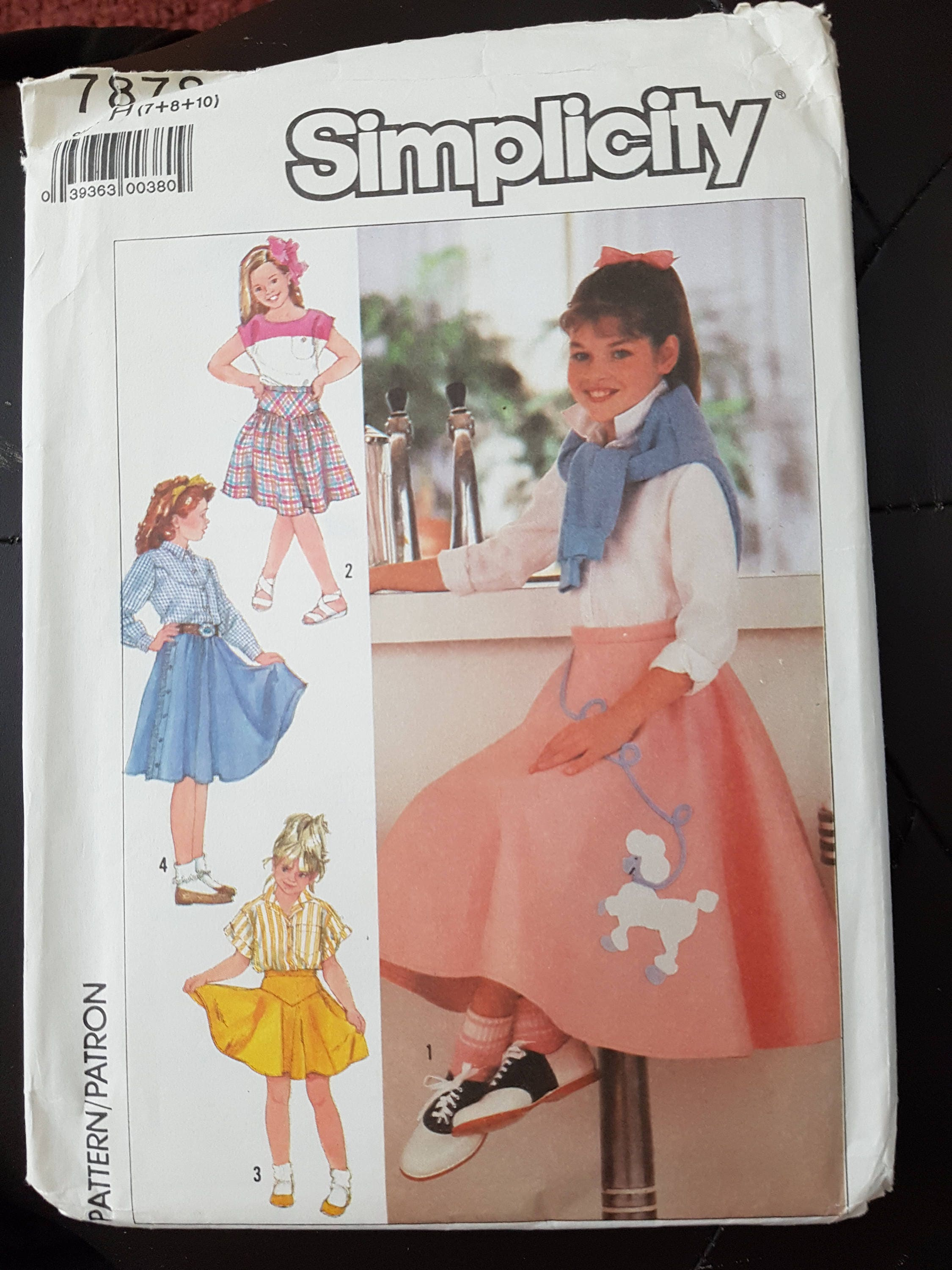 A Simplicity Creative Patterns New Look 6258 Childs and Girls Circle Skirts 3-4-5-6-7-8-10-12