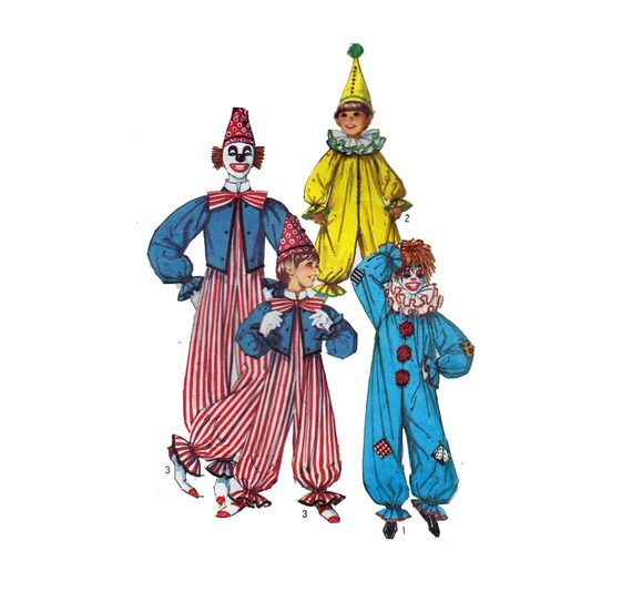 Childs Clown Kostüm Nähen Muster Raglanärmel Hals Rüschen | Etsy