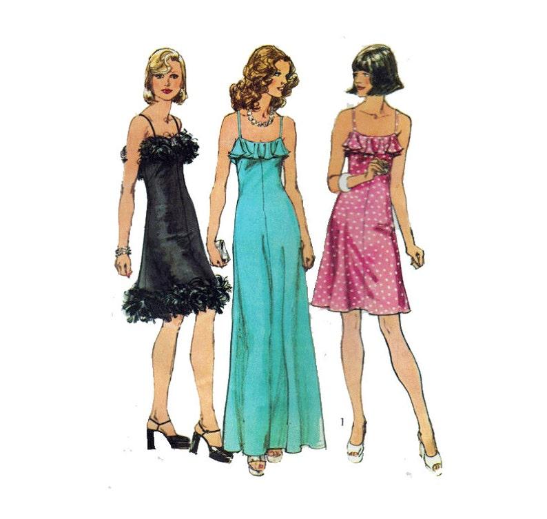 4e6e66fc3 Los años 70 discoteca vestido coser patrón espaguetis correas