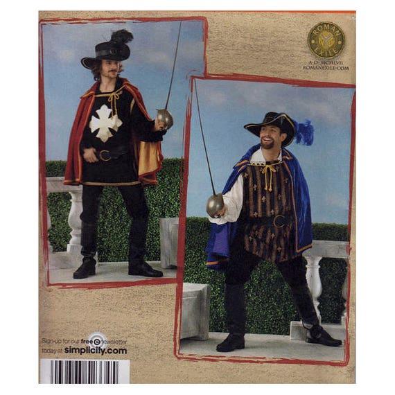 Men s Costumes UNCUT Sewing Pattern Musketeer Swashbuckler  e04ee035184