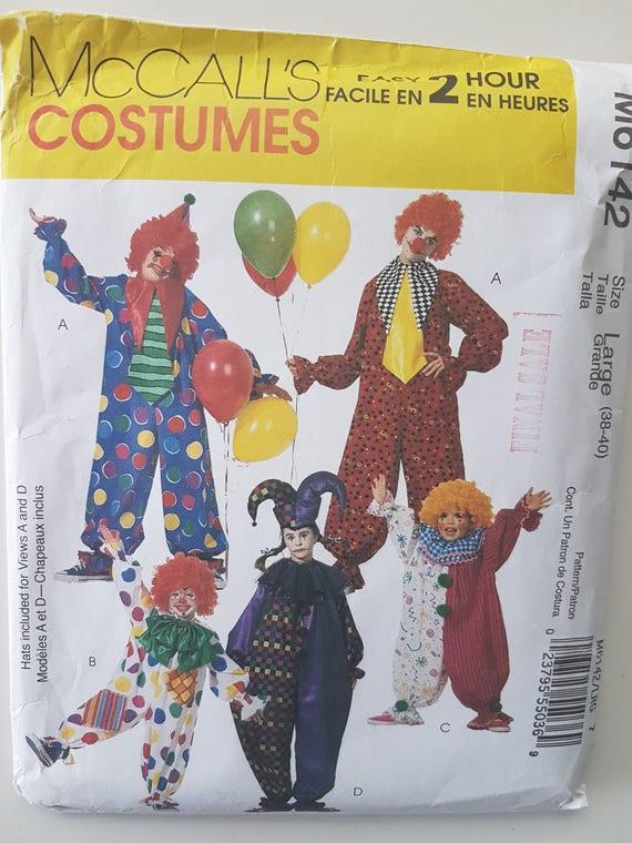 Erwachsenen Clown oder Narr Kostüm Schnittmuster einfach | Etsy