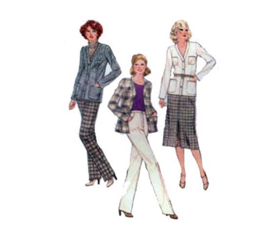 70er Jahre hoch Anzug Nähen Muster Hose Hose Strickjacke Jacke   Etsy