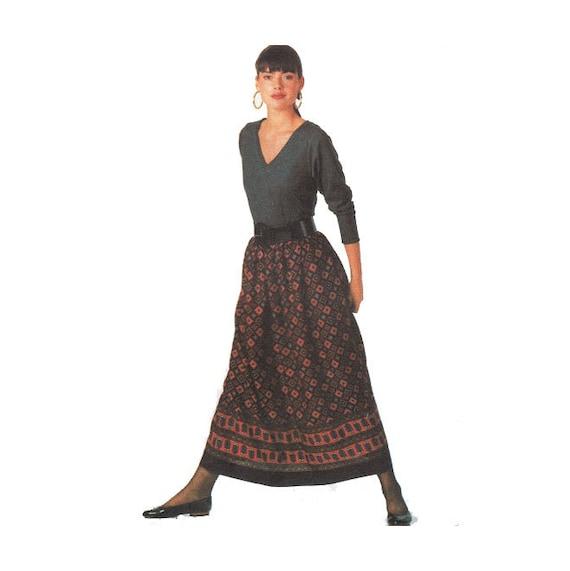 Para principiantes coser patrón Maxi falda con pretina y lado | Etsy