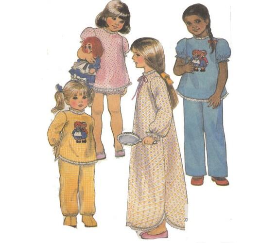LEICHTE Mädchen Nachthemd Nähen Muster Raggedy Ann und Andy | Etsy
