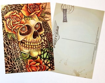 Set of 3 Day of the Dead Postcards