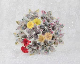 Origami Flower Bouquet Etsy