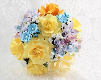 Origami Wedding Bouquet / Paper Flower Bouquet / Wedding Bouquet