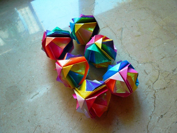 6 Origami Kusudama Origami Balls Any Occasion For Etsy