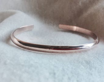 14k rose gold filled stackable personalized cuff bracelet