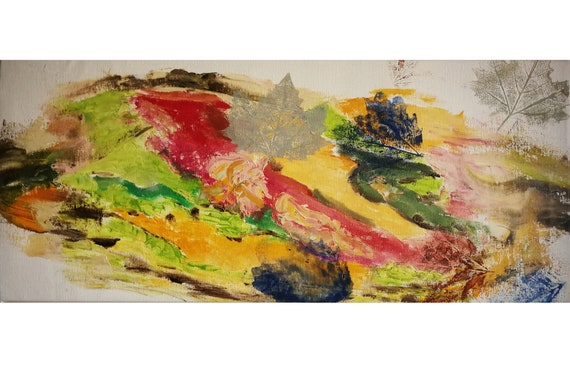 Extra Wall Art Modern Abstract Art Figure Art Colorful Wall Art Autumn Leaves 21 21 32 X 9 1 16 Inches 55x23 Cm Free Shipping