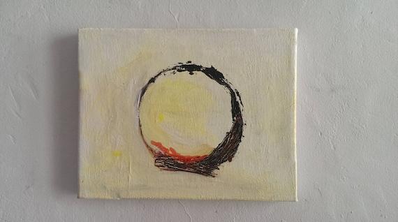 Circles Wall Art Canvas Colorful Abstract Painting Original Painting