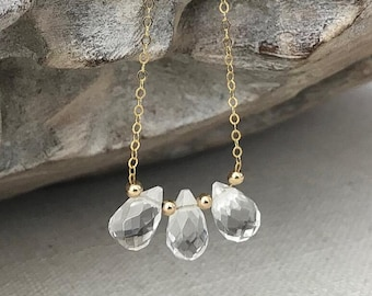 Clear Crystal Quartz Necklace