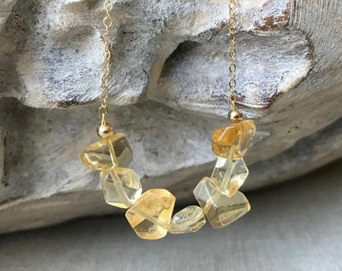 Featured listing image: Citrine Necklace, November Birthstone, Natural Gemstone Necklace, Citrine Jewelry, Scorpio Zodiac, Christmas Gift for Her