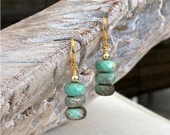Moss Opal Earrings