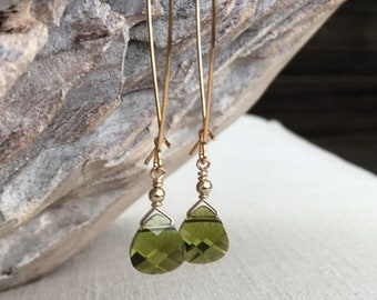 Olivine Dangle Earrings